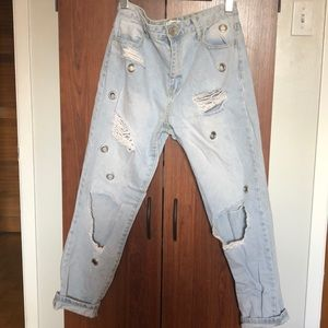 High waste jeans